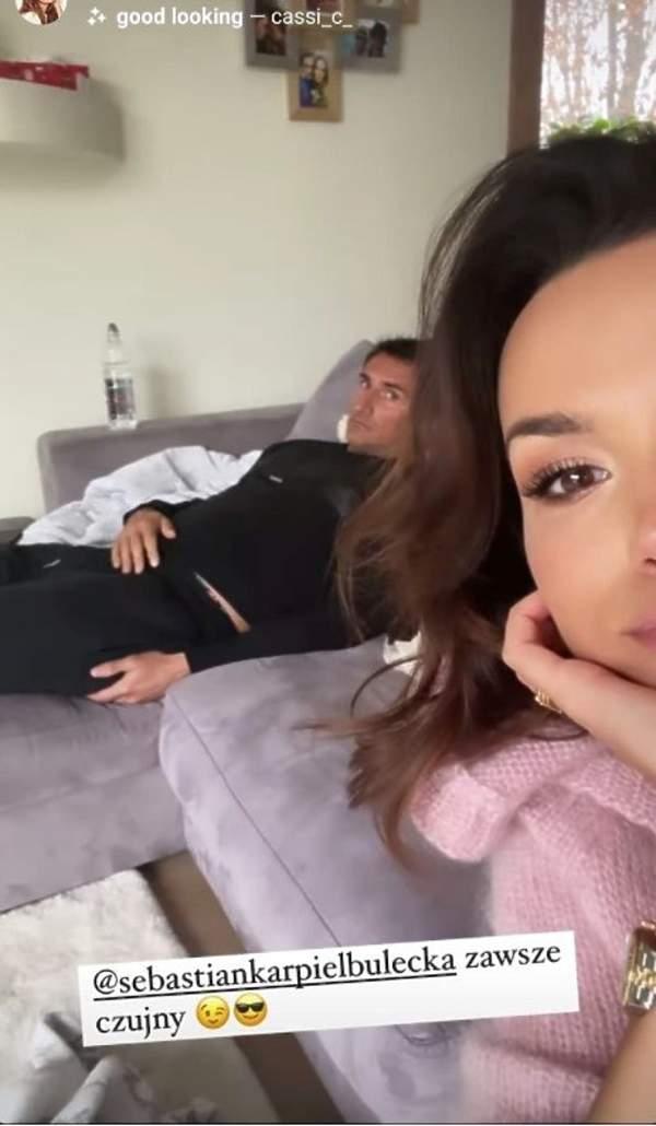 Krupińska z mężem