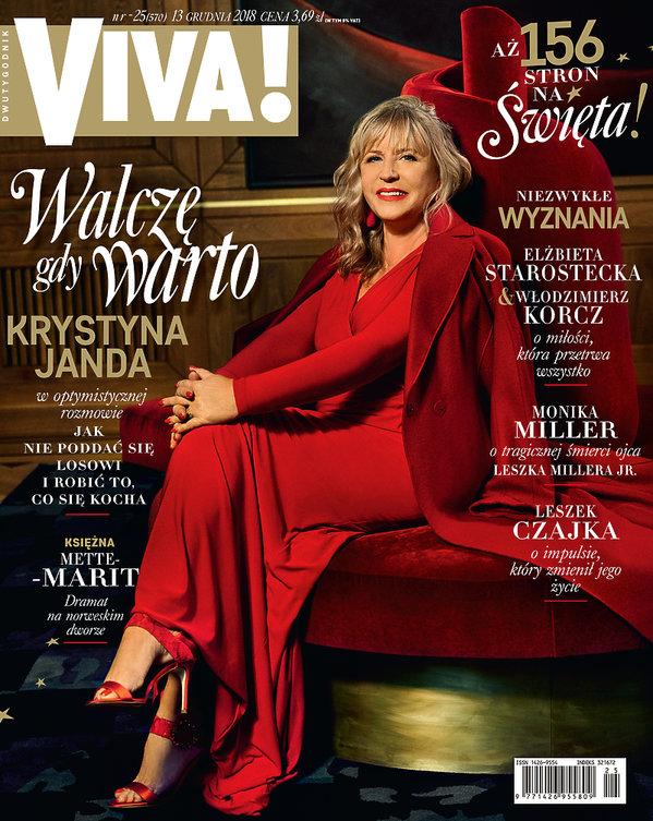 Krystyna Janda, Viva! 25/2018 Okładka
