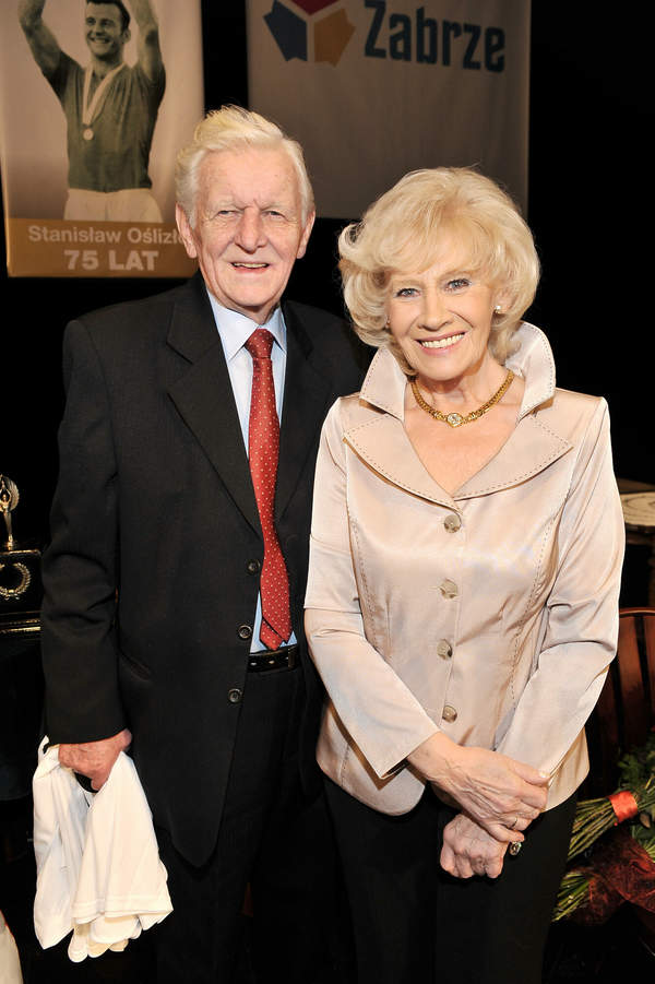 Krystyna Loska z mężem