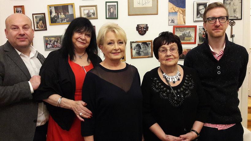 Krystyna Pytlakowska oraz rodzina Edwarda Dziewońskiego