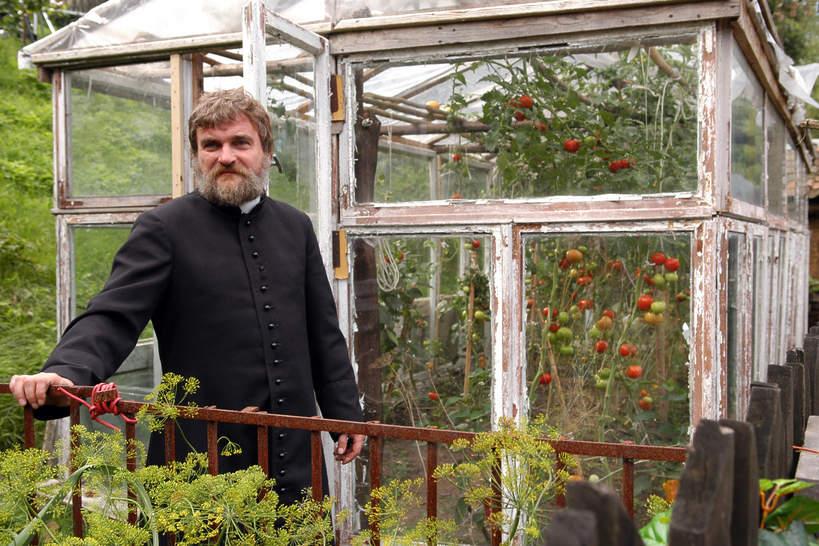 Krzysztof Dzierma na planie filmu U Pana Boga w ogródku, 2006 rok