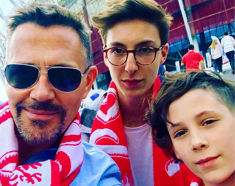 Krzysztof Ibisz z synami