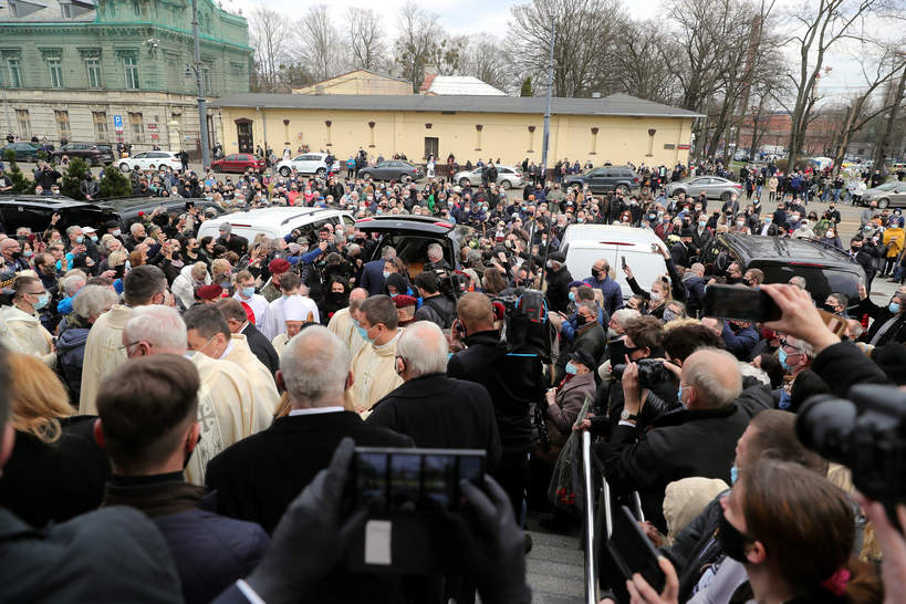 Krzysztof Krawczyk, pogrzeb, 10 kwietnia 2021