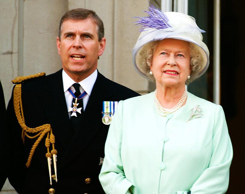 Książę Andrzej, syn królowej Elżbiety II, Elżbieta II