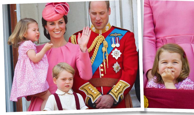 Książę George i księżniczka Charlotte, księżna Kate i William