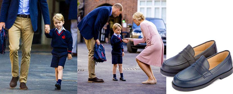 Książę George idzie do szkoły, buty