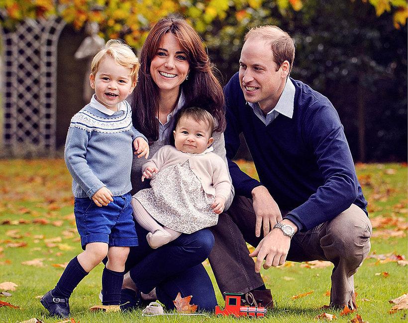 Książę George, księżna Kate, księżniczka Charlotte, książę William N MOBILE