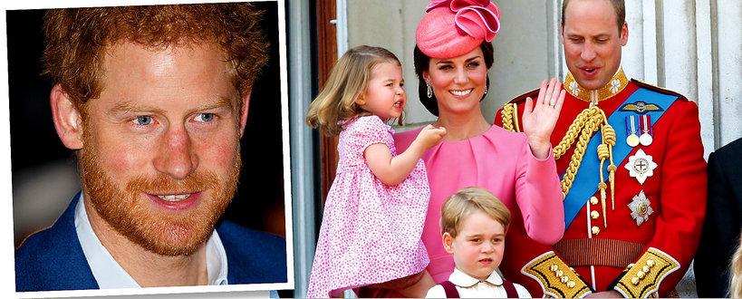 Książę Harry i dzieci księcia Williama