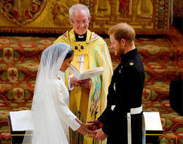 Książę Harry i Meghan Markle przysięga