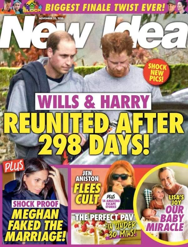 Książę Harry, książę William, okładka New Idea