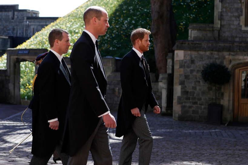 Książę Harry, książę William, pogrzeb księcia Filipa, 17 kwietnia 2021
