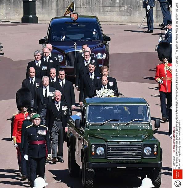 Książę Harry, książę William, pogrzeb księcia Filipa, 17 kwietnia 2021.