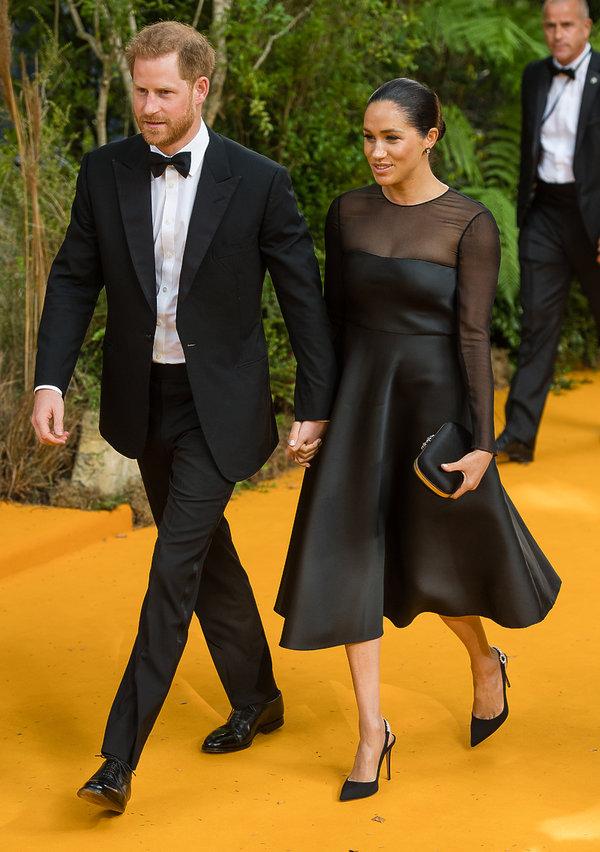 książę Harry, księżna Meghan, premiera Króla Lwa 2019