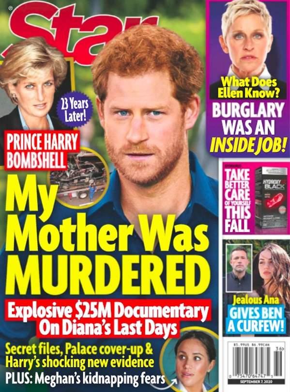 Książę Harry, magazyn Star