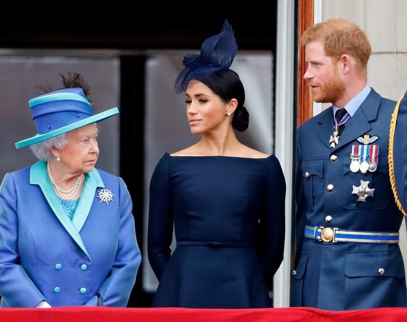 Książę Harry, Meghan, Królowa Elżbieta II