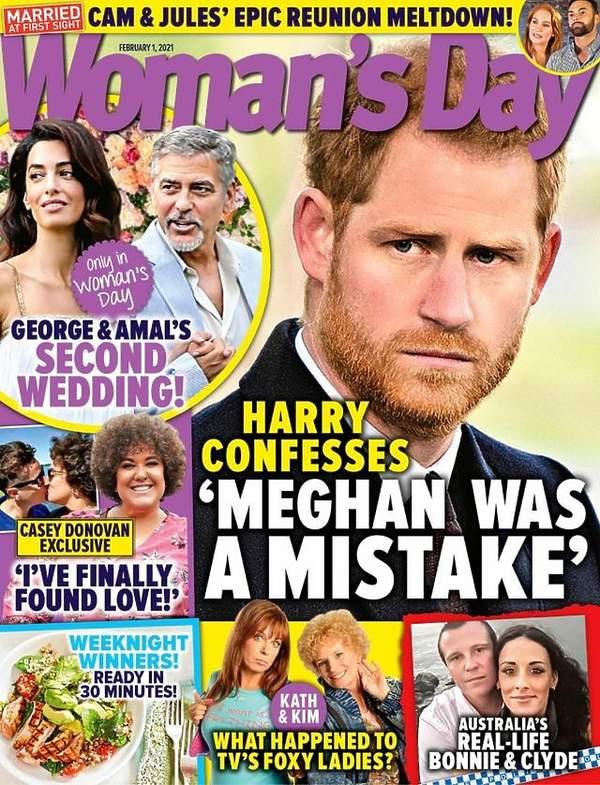 Książę Harry, Woman's Day, okładka, książ Harry o małżeństwie z Meghan