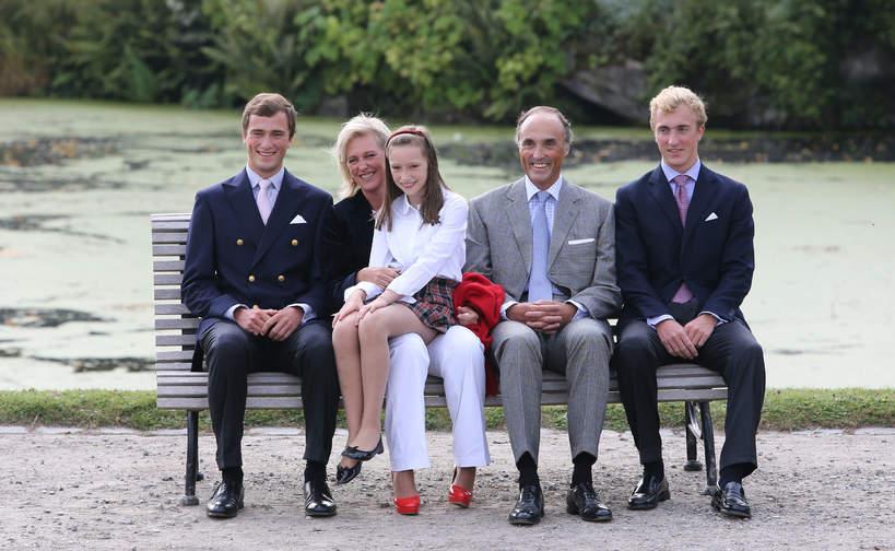 Książę Joachim z Belgii z rodziną