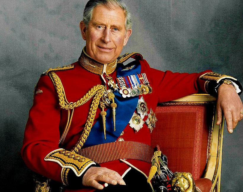Książę Karol, książę Karol w mundurze, oficjalny portret księcia Karola