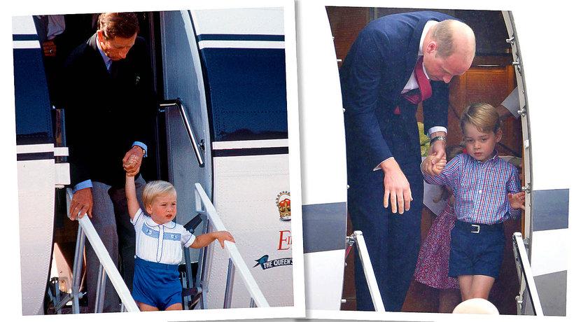 Książę Karol, książę William, książę George