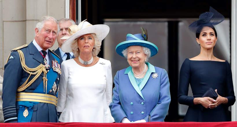 Książę Karol, księżna Camilla, Elżbieta II, księżna Meghan