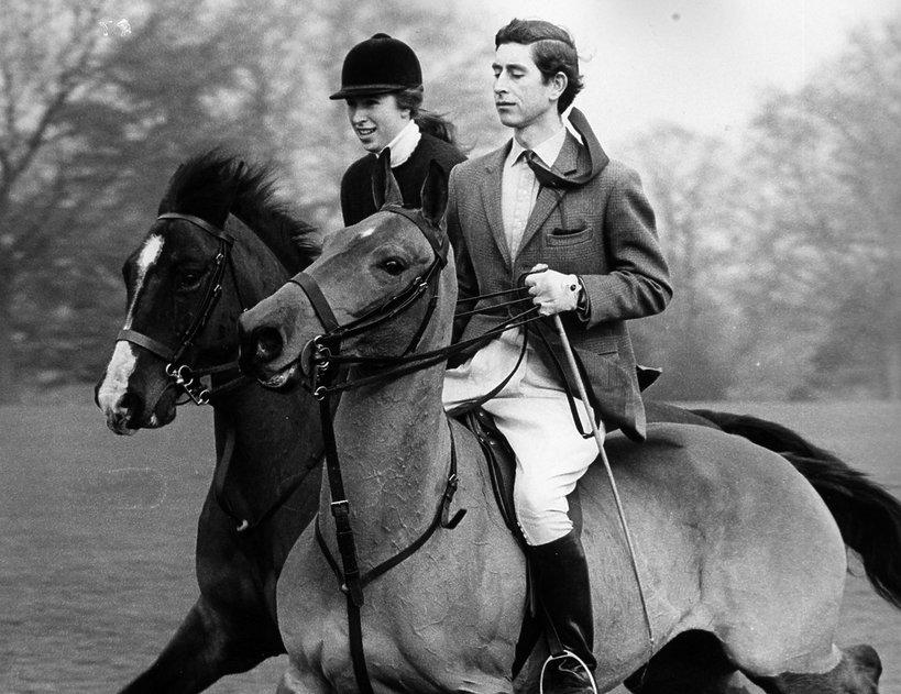 Książę Karol, księżniczka Anna 1969 rodzina królewska