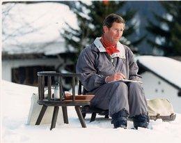 Książę Karol w szwajcarskich Alpach w Klosters