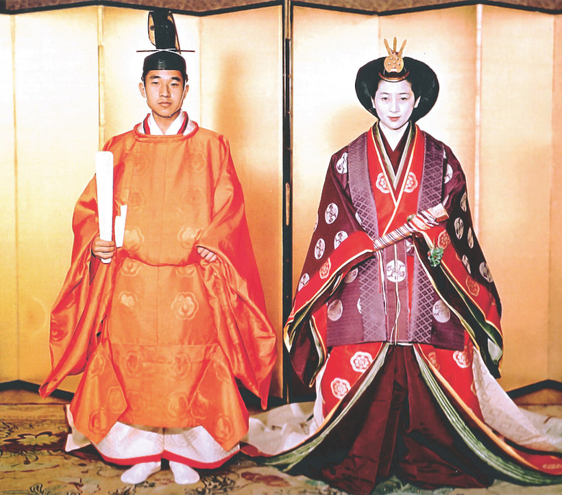 Książę Naruhito i księżna Masako