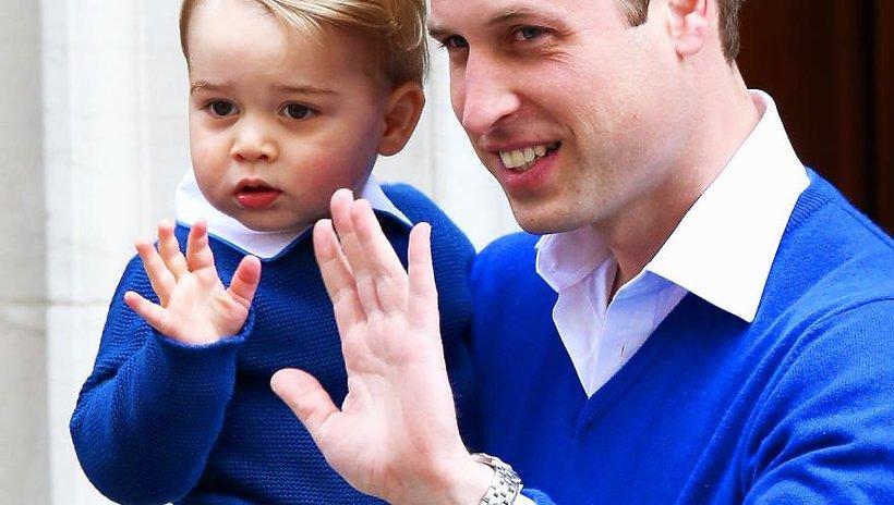 Książę William i książę George FB