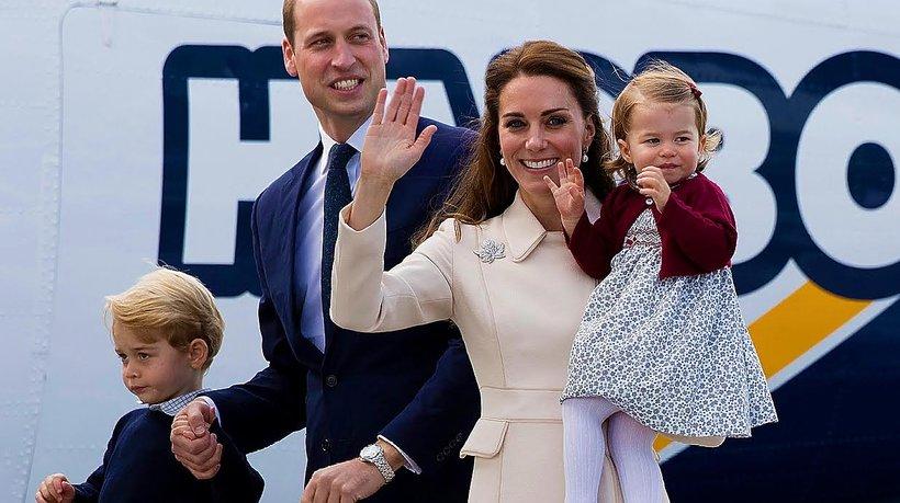 Książę William i księżna Kate z dziećmi MT