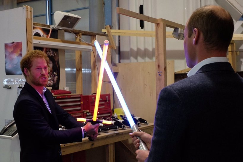 Książę William, książę Harry, Gwiezdne wojny