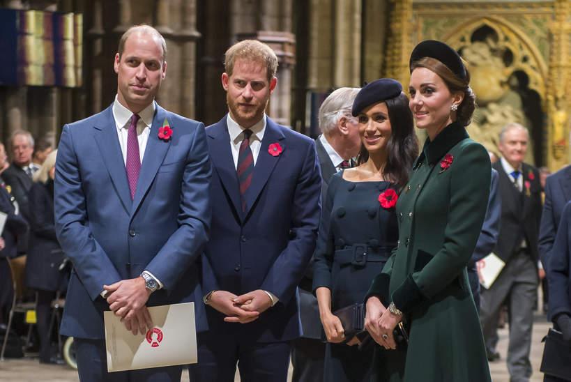 Książę William, książę Harry, księżna Kate, księżna Meghan