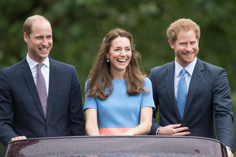 książę William, księżna Kate, książę Harry