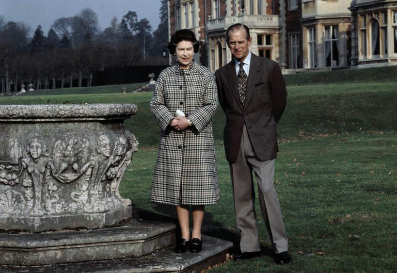 KsiążęFilip, królowa Elżbieta II 1982 rok