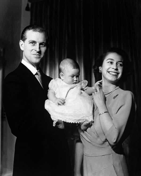 KsiążęFilip, królowa Elżbieta II narodziny Karola