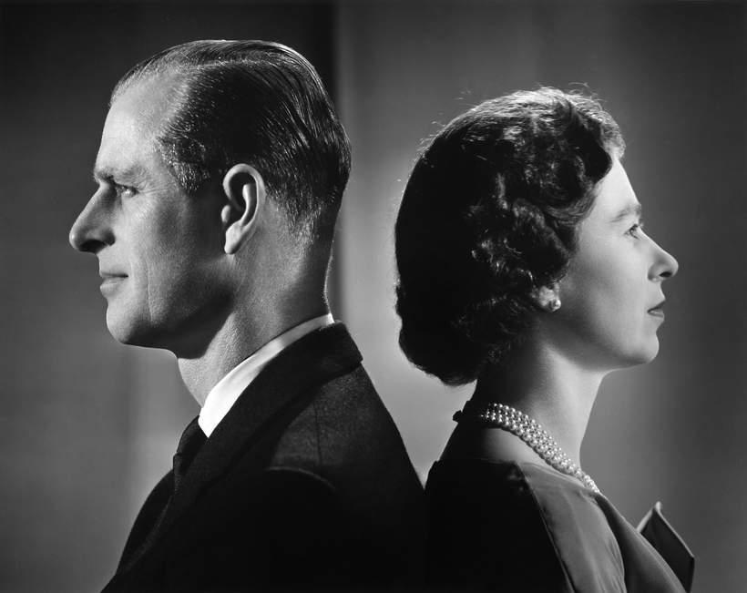 KsiążęFilip portret, królowa Elżbieta II