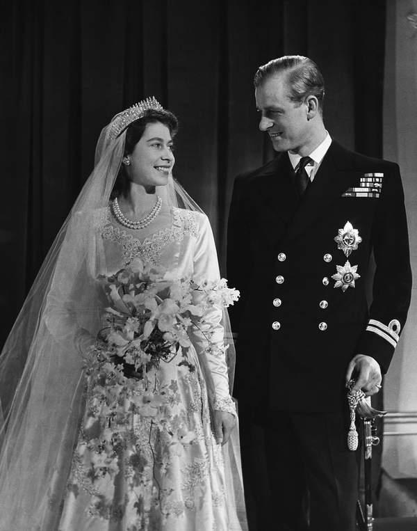 KsiążęFilip ślub królowa Elżbieta II