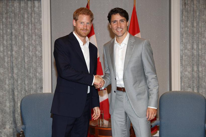 KsiążęHarry i Justin Trudeau, Premier Kanady