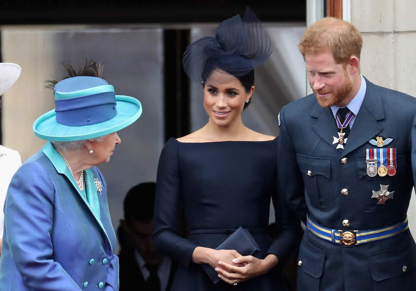 KsiążęHarry, księżna Meghan, królowa Elżbieta II