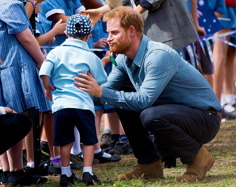 KsiążęHarry z dziećmi