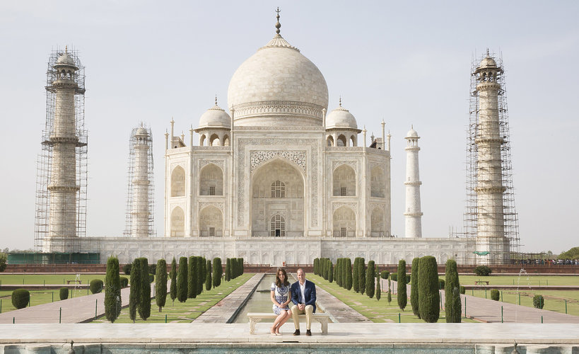 KsiążęWilliam i księżna Kate Taj Mahal 2016 rok