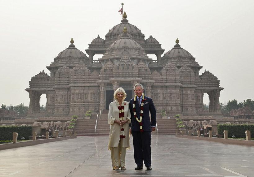 Księżna Camilla i książę Karol w Indiach 2013 rok