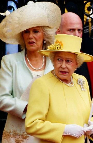 księżna Camilla, królowa Elżbieta II