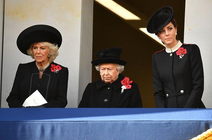 Księżna Camilla, królowa Elżbieta II i księżna Kate, Dzień pamięci