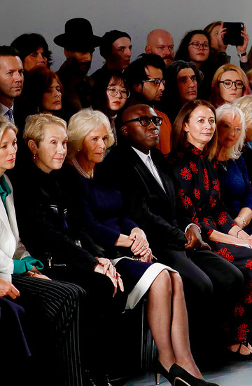 Księżna Camilla na pokazie mody