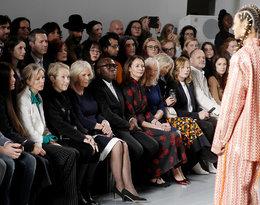 Księżna Camilla na pokazie mody podczas tygodnia mody w Londynie