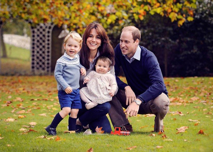 Księżna Catherine (Kate Middleton), książę William i ich dzieci: książę George i księżniczka Charlotte