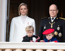 księżna Charlene, książę Albert, księżniczka Gabriella, książę Jacques, monakijska rodzina królewska