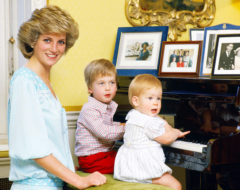 Księżna Diana dzieci, księżna Diana synowie, księżna Diana z synami