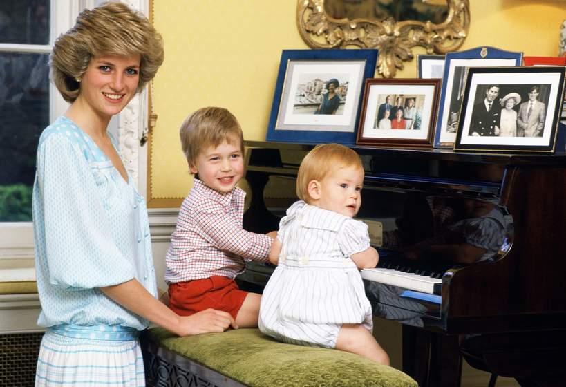 Księżna Diana, Harry i William