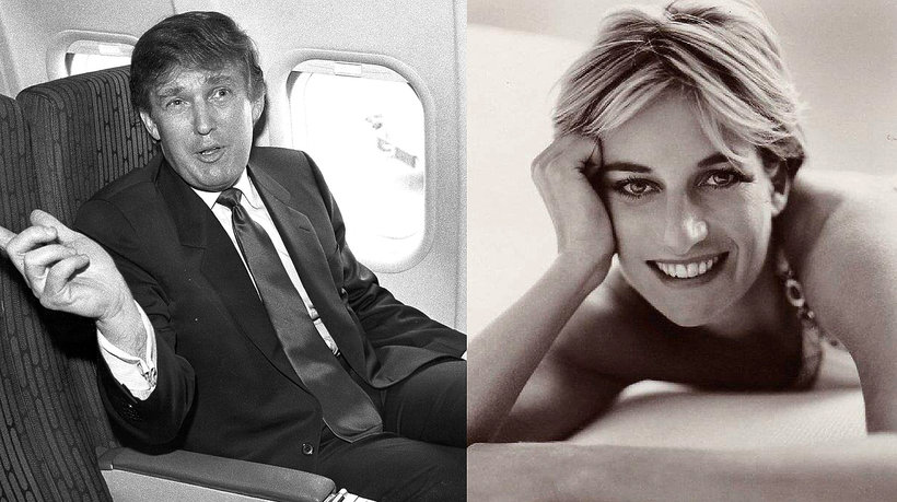 Księżna Diana i Donald Trump